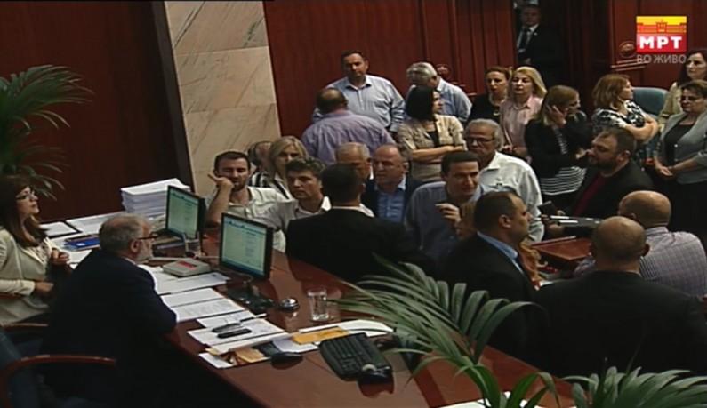 Повторно инцидент во Собрание