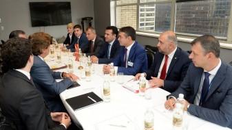 Заев на средба со бизнисмени од македонската дијаспора