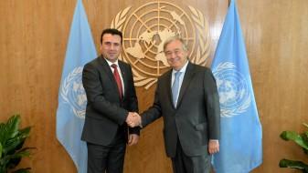 Гутереш до Заев: Ја имате поддршката на ОН за стратешките евро-атлантски цели