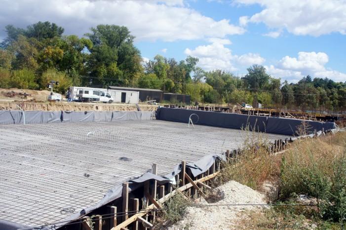 Продолжува изградбата на северната трибина на стадионот под Тумбе кафе