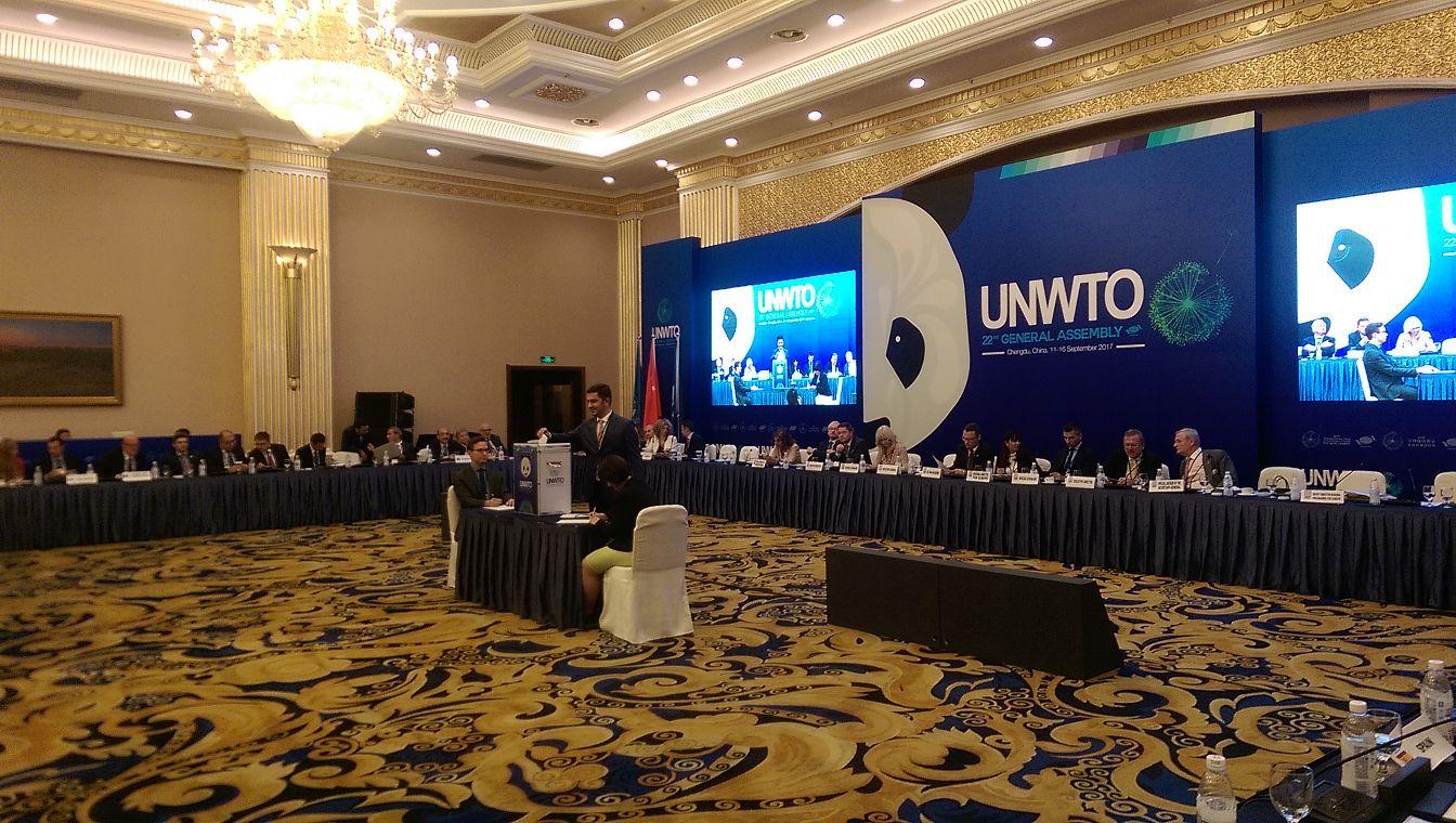 Министерот Бектеши на состанок на Светската туристичка организација во Кина