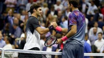 Федерер елиминиран во Њујорк, Делпо избори полуфинале против Надал