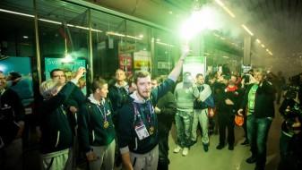 Европските шампиони пречекани 20.000 луѓе
