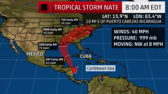 Евакуација во Њу Орлеанс: Нејт прерасна во ураган