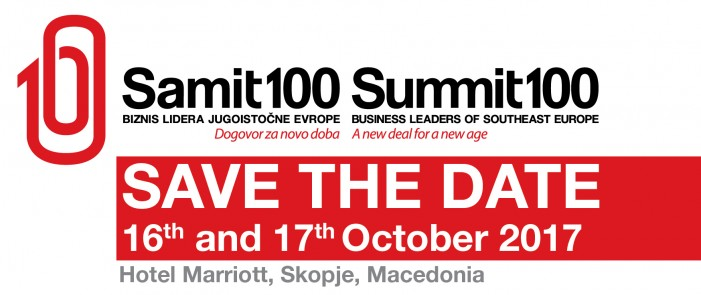 """Во Скопје ќе се соберат 150 бизнис-лидери од Југоисточна Европа на """"Самит 100"""""""