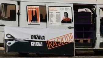 Протест против договорот со Ватикан во Загреб
