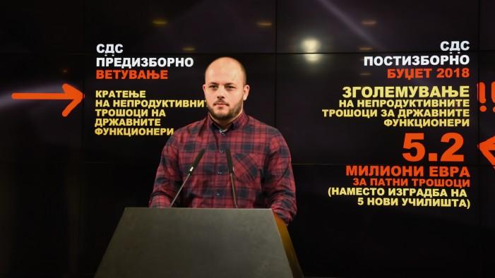 (ВИДЕО) Костовски: СДС ги удвои трошоците за лично луксузирање