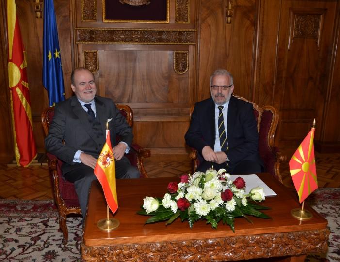 Средба Џафери – Лоренцо: Македонија ја поддржува Шпанија за зачувување на својот територијален интегритет