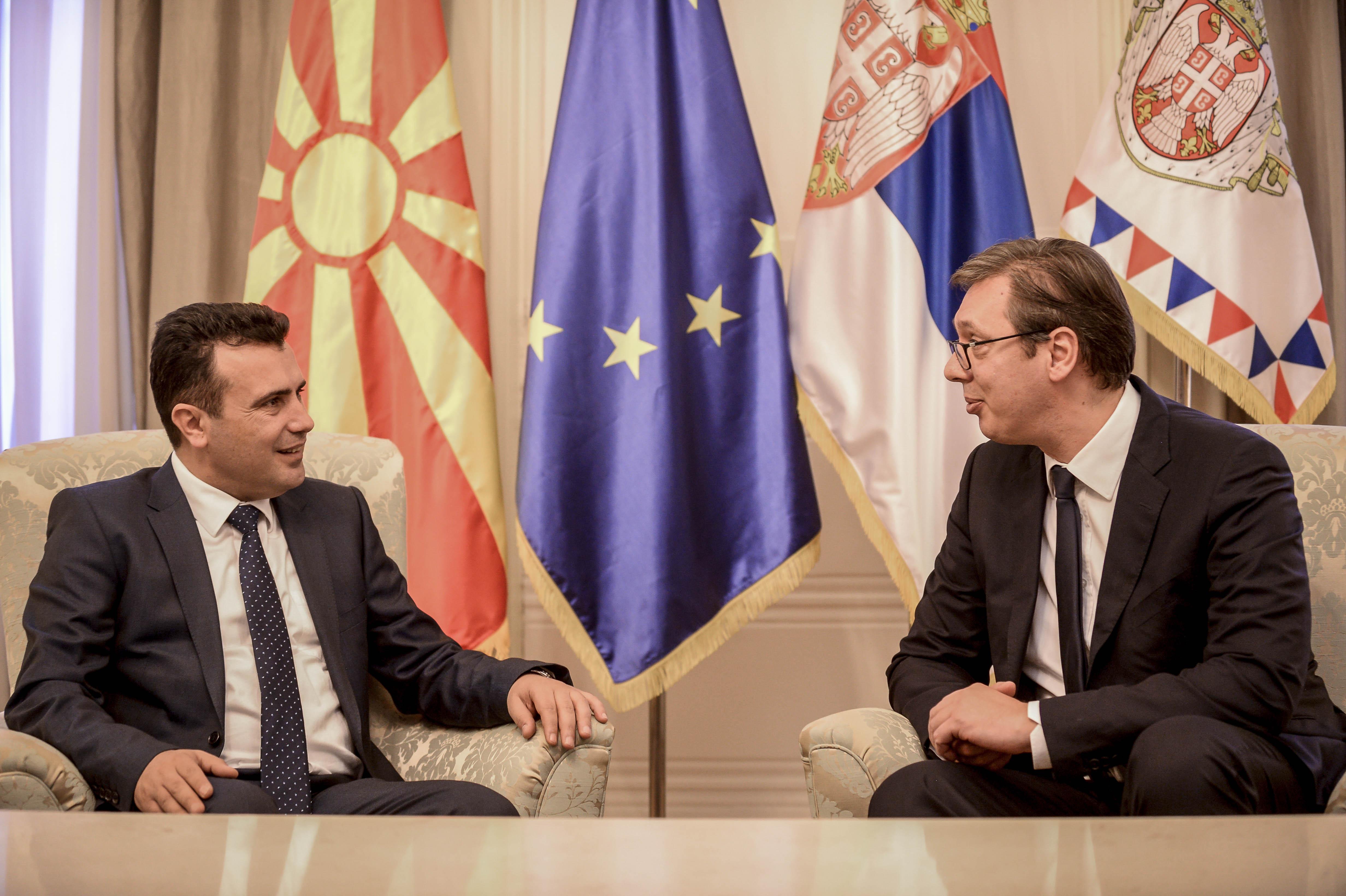 Заев се сретна со Вучиќ  Најавени повеќе иницијативи што ќе ја продлабочат соработката