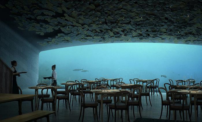 (Фото) Првиот ресторан под вода во Европа ќе се гради на пет метри длабочина