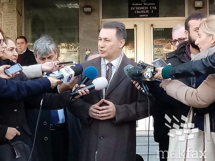 """Груевски негира вина во случајот """"Траекторија"""""""