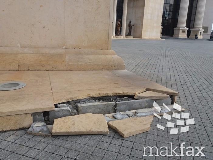 Колонадата искршена, а за одржување на спомениците плаќаме по 36.000 евра месечно
