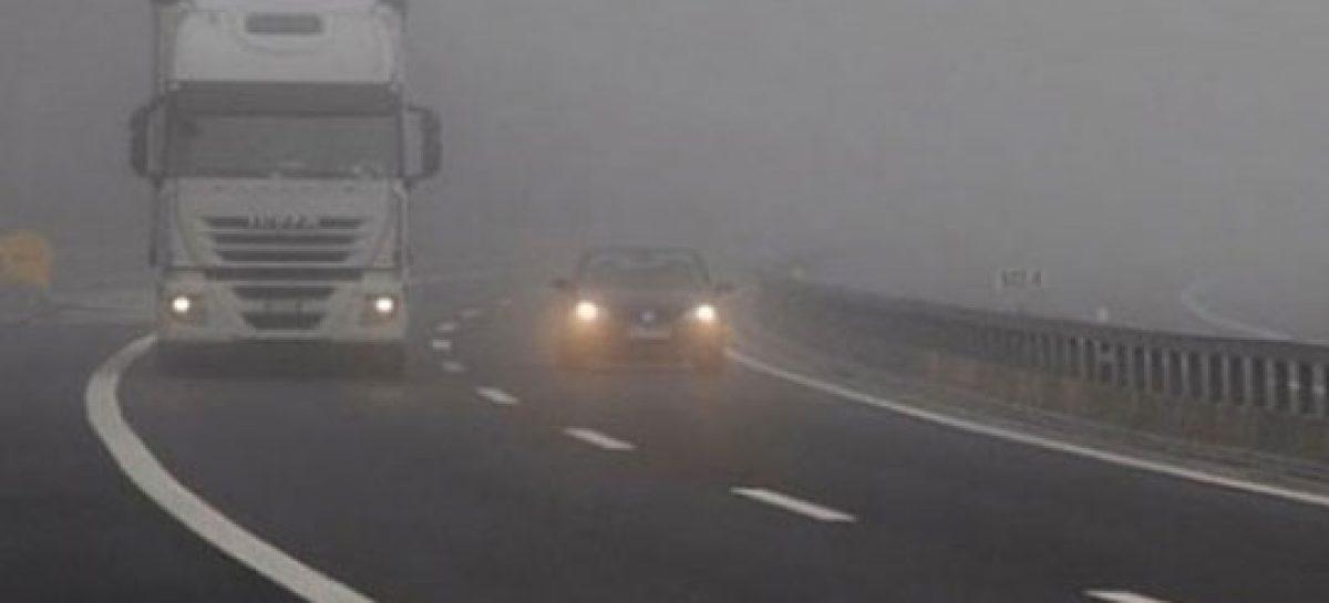 Поради магла намалена видливост на неколку патни правци