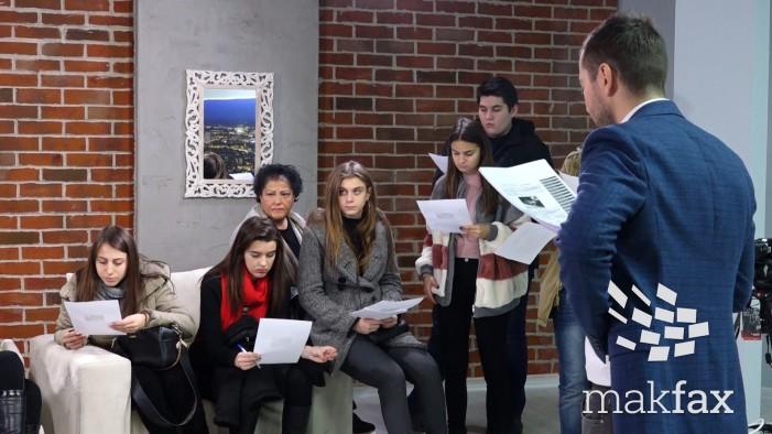 """(Видео) Медиумски ден – средношколци во посета на """"Макфакс"""""""