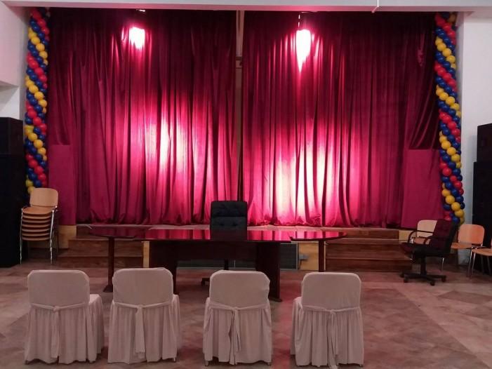 Во Ѓорче Петров венчавка на сцена, дел од Центарот за култура адаптиран во матично