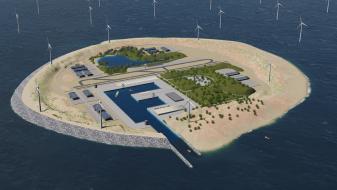 (ВИДЕО) Вештачки остров со ветерници во Северното Море