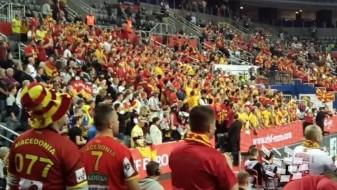 (Видео) Еуфорија на трибините со македонски навивачи