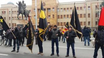 (Видео) Ќе има две бугарски држави, две бугарски цркви, а на повидок е трета албанска држава на Балканот, порача Венетски на протестот