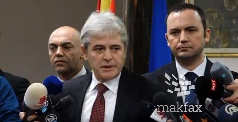 (Видео) Ахмети: Очекувам решение во наредните денови
