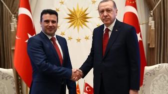 (Видео) Заев се сретна Ердоган: Поддршка на процесот за решавање на спорот со Грција