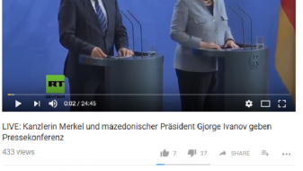 """Според """"Раша тудеј"""", Меркел се сретнала со македонскиот претседател Зоран Заев"""