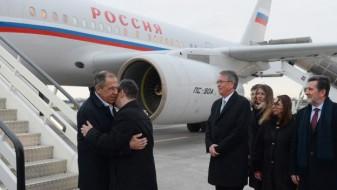 Лавров пристигна во посета на Белград
