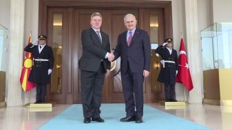(Фото) Иванов се сретна со Јилдирим: Поканата за НАТО ќе биде важен поттик за реформските процеси