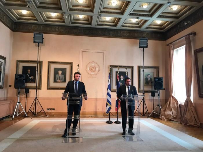 Шилегов и Каминис договорија соработка меѓу Скопје и Атина во повеќе области