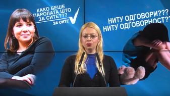 """(Видео) Андоновска: МТСП не излезе со конкретни податоци за девојчето од """"25 Мај"""""""