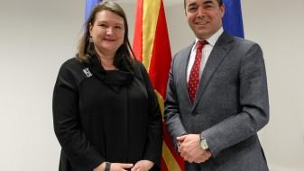 Димитров и канадската амбасадорка согласни за продлабочување на соработката