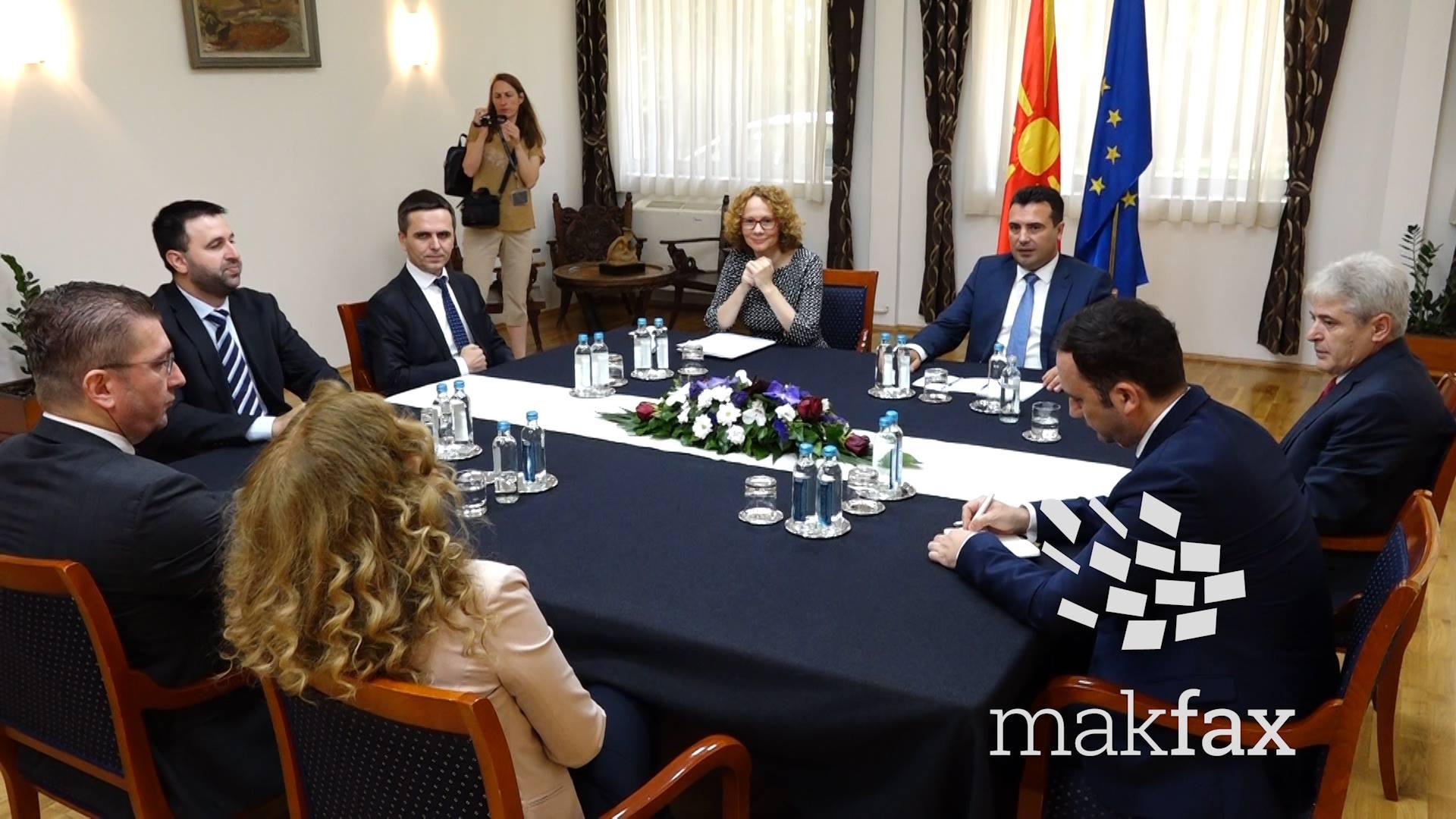 лидерска средба, Али Ахмети, Бујар Османи