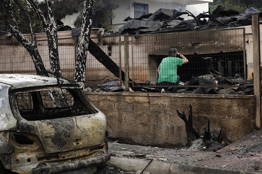 пожар, Атина, Грција