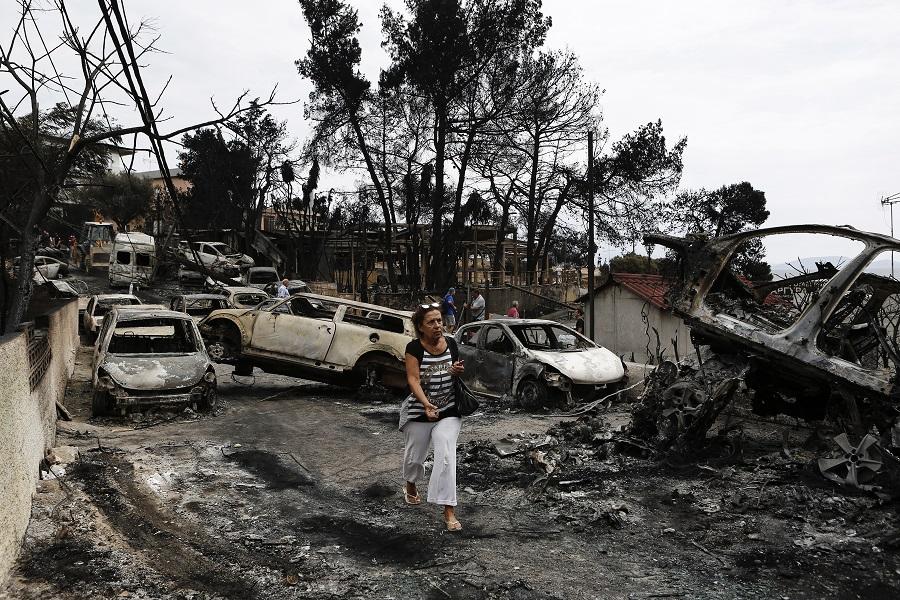 пожар, Грција, Атина