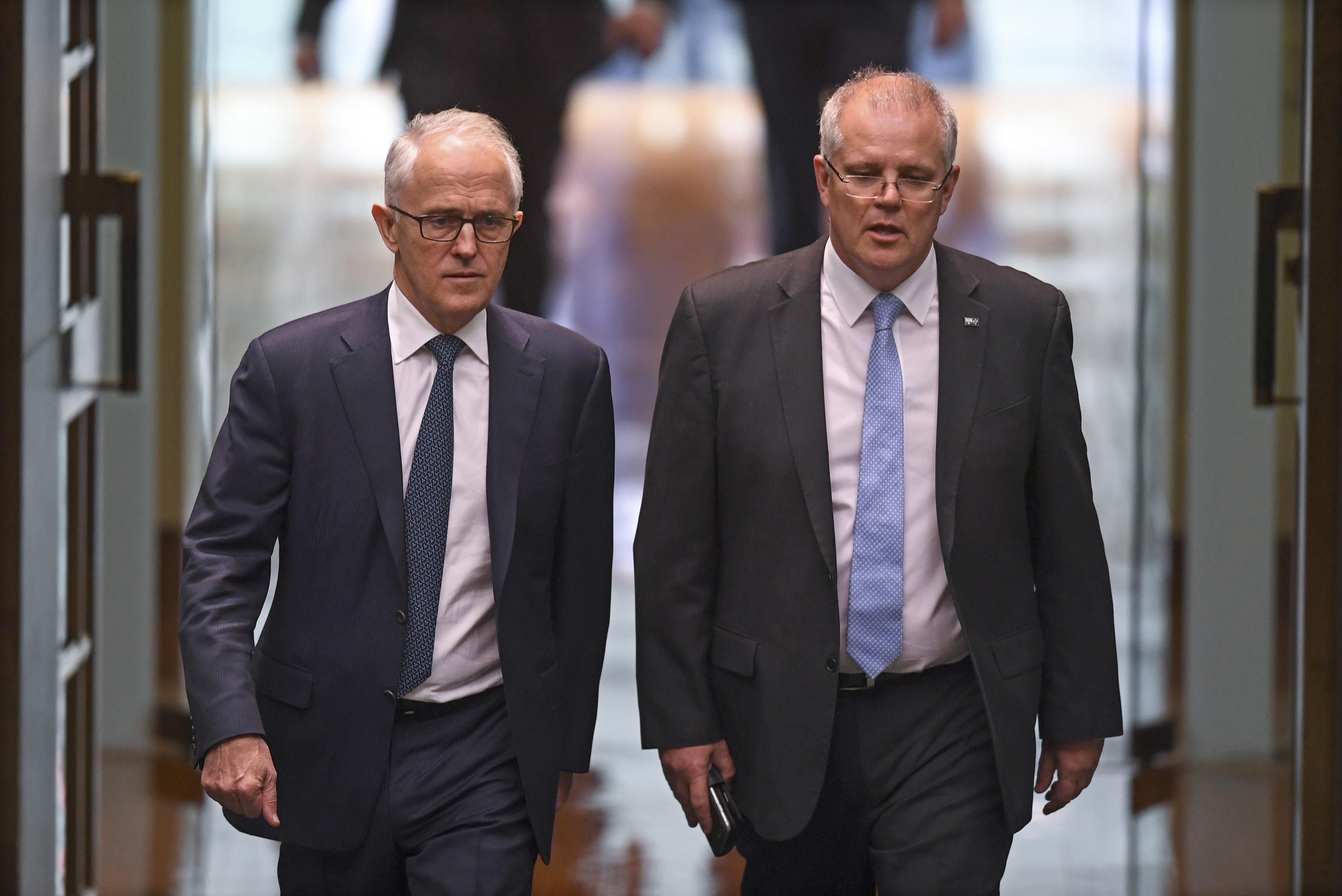 Avstralija Skot Morison i Malkolm Turnbul, nov premier