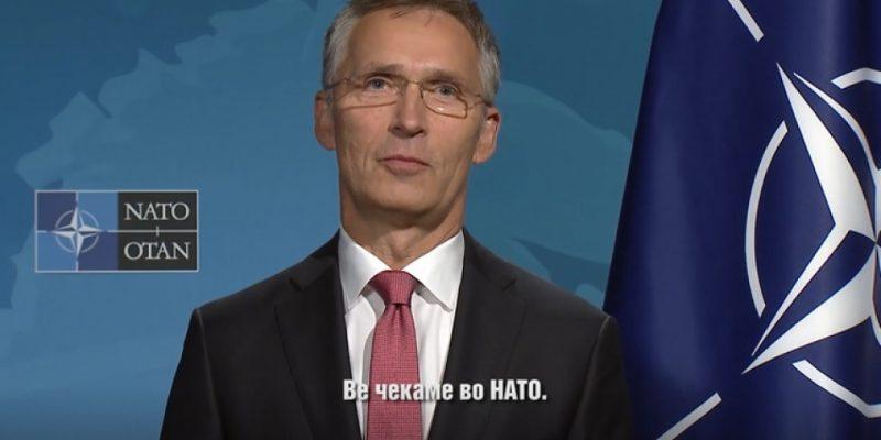Видео порака на Столтенберг: Вратата е отворена, ве чекаме во НАТО