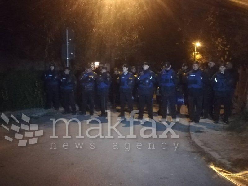 (Видео) Демонстрантите спречени да дојдат до домот на Елизабета Канческа-Милевска