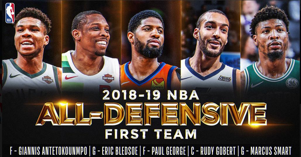 Избрани најдобрите дефанзивни петорки во НБА лигата