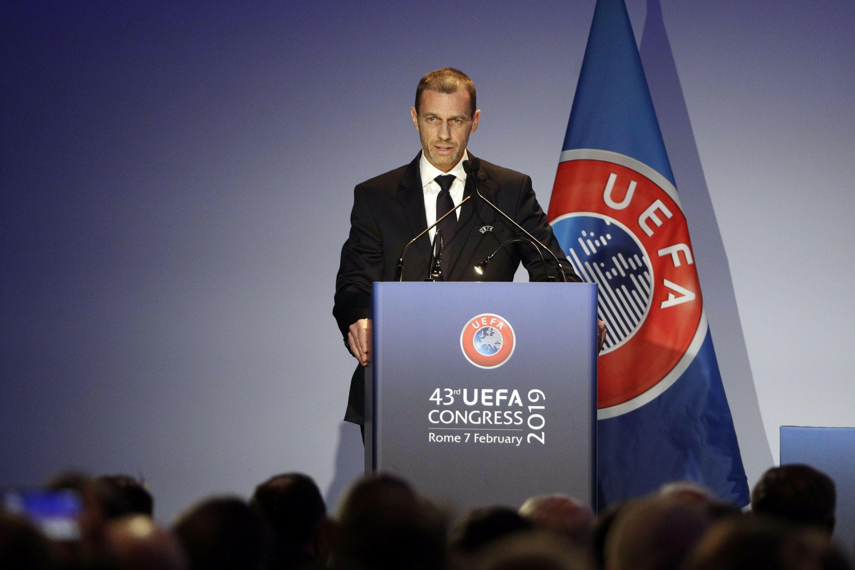 УЕФА го демантира својот претседател